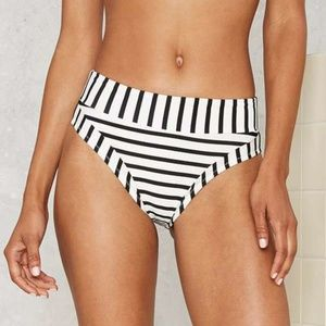 Nasty Gal White Between the Lines Bikini Bottom